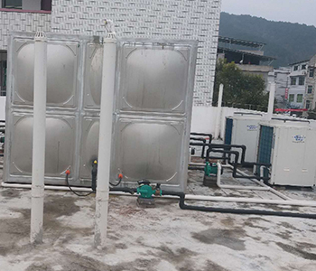 Square Water Tank Air Energy Project