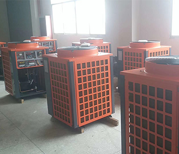 A corner of factory air energy heat pump inventory